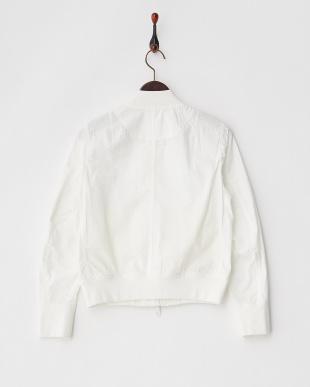 ホワイト  サッカーMA-1ジャケット見る