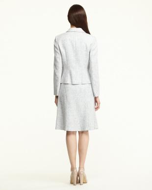 グレー  トライスピンラメツィード3点スーツ(ジャケット+スカート2種)見る