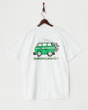 ホワイト  ウルトラコットン イラストTシャツ見る