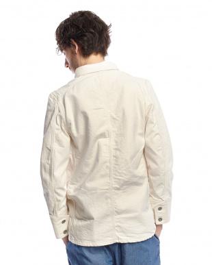 オフホワイト デニムカバーオールジャケット見る