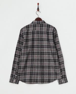 ブラック へリンボーンネルチェックシャツ見る