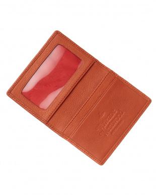 オレンジ  HOGARTH 二つ折りカードケース見る