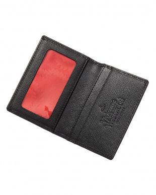ブラック  OPIO SAFFIANO 二つ折りカードケース見る