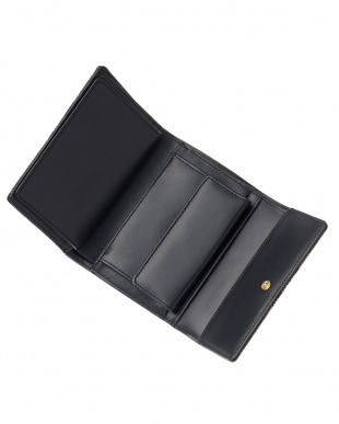 カーキ×パープル  DERBY 折り財布見る