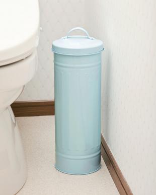 ブルー  トイレットペーパー収納缶|Seiei見る