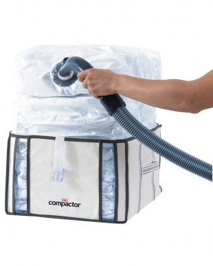 ホワイト  クローゼット用圧縮ボックスハーフ|Compactor見る