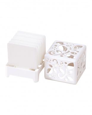 ホワイト  自然気化式加湿器うるおいキューブ | Seiei見る