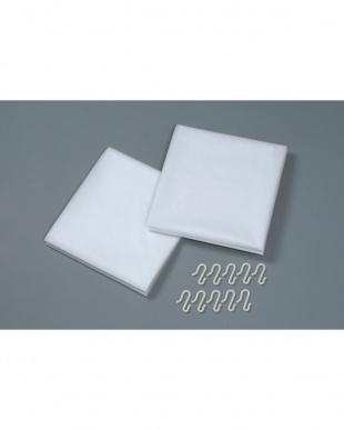 ホワイト 断冷カーテン 幅広 2枚組×2セット   Seie見る