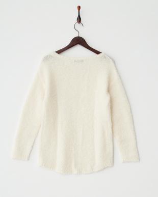 アイボリー  シープルックセーター見る
