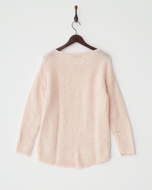 ピンクベージュ  シープルックセーター見る