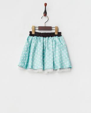 ブラック/ミント  リバーシブルドットスカート見る
