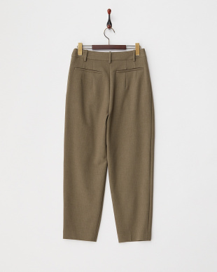 KHAKI DOUBLE CROSS TAPERED PANTS見る
