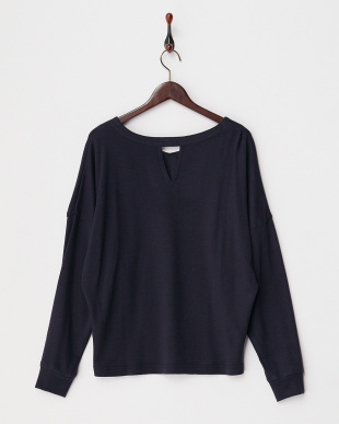 NAVY  WOOL PONCHI V-BACK TOP見る