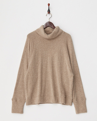 BEIGE  LOW-GAUGE ANGOLA WOOL TURTLE NECK TOP見る