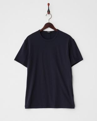 ネイビー  クルーネックTシャツ見る