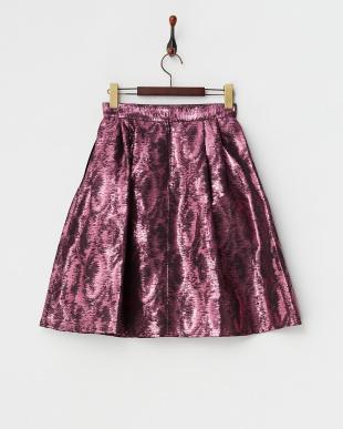 ピンク  メタリックカラースカート見る