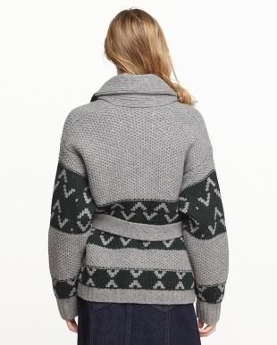 グレー  Chunky Knit Jacket見る