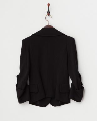 ブラック Fitted Buttoned Blazer見る