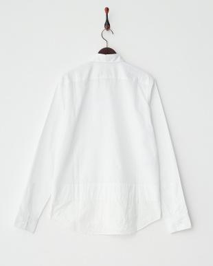 ホワイト  SHIRT 裾切り替えシャツ見る