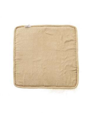 ホワイト  ムートン長毛シートクッション 35×35見る
