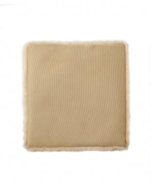 ベージュ 洗える羊毛シートクッション 43×43見る