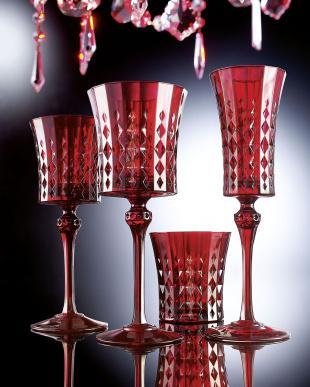 レディーダイヤモンド レッド 270mL ペア ワイングラス見る