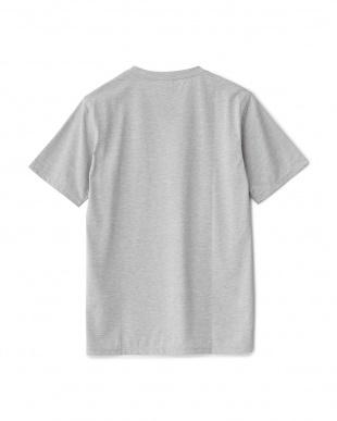 ミックスグレー ポケット付きTシャツ見る