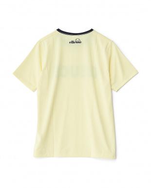 クリーム  クルーネックプリントTシャツ見る