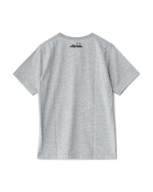 ミックスグレー  半袖プリントTシャツ見る