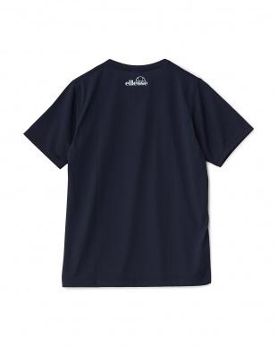 ネイビー  半袖プリントTシャツ見る