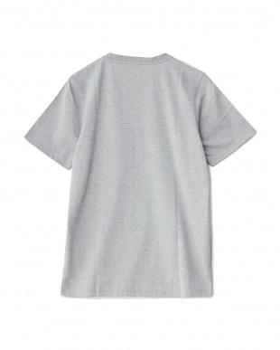 ミックスグレー ショートスリーブプリントTシャツ見る