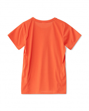 オレンジコーラル  かすれプリントTシャツ見る