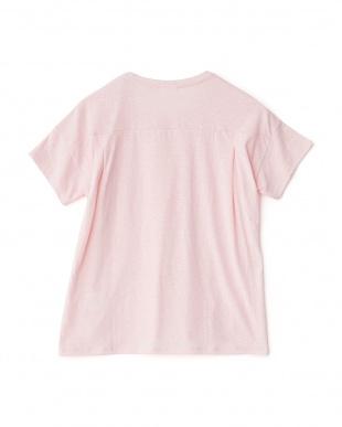 ピンクミックス  クルーネックグラフィックTシャツ見る