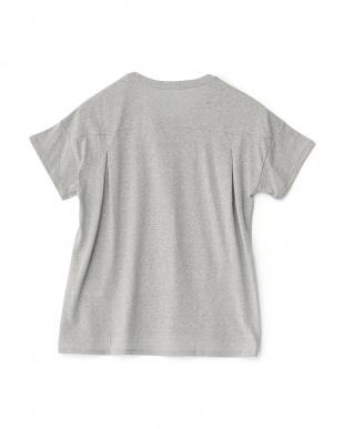 ミックスグレー  クルーネックグラフィックTシャツ見る