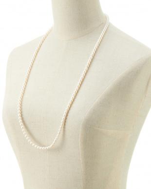 WHT×SV925 アコヤ真珠ネックレス 6-6.5mm/約80cm見る