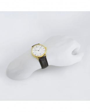 シルバー アリゲーター革腕時計 MEN見る