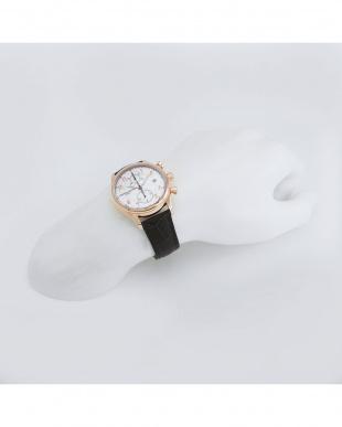 シルバー×ゴールドカラー クロコ型押しカーフストラップ腕時計 1 MEN見る