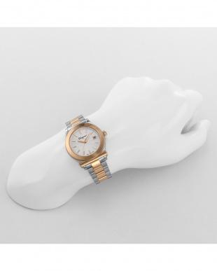 シルバー 1898ラインカラーバンド腕時計 WOMEN見る