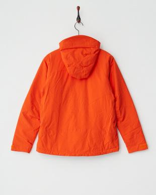 オレンジ  中綿ジャケット見る