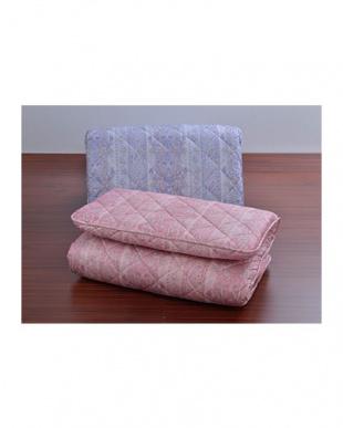 ピンク  4層敷きふとん シングルロング見る