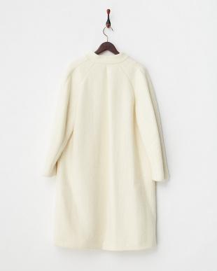 ホワイトモヘヤ混シャギーコート見る