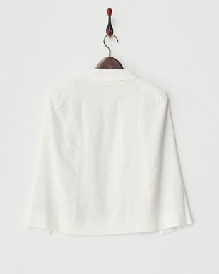 ホワイト オータムケープジャケット見る