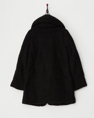 ブラック 中綿ビッグ衿コート見る