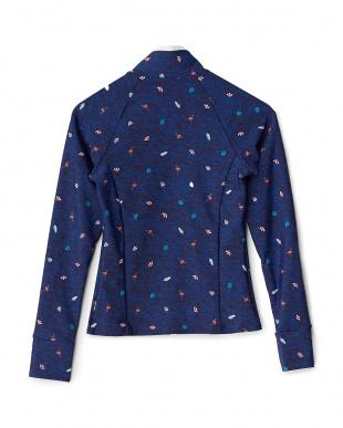 ネイビーブルー  フラミンゴ柄アクアシャツ見る