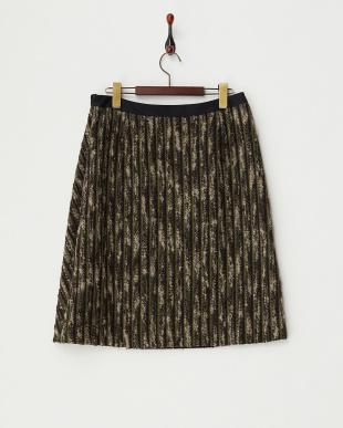 ブラウン×グリーン  ポンテトルトボーダースカート見る