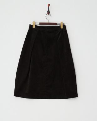 ブラック  タック入りベロアスカート見る