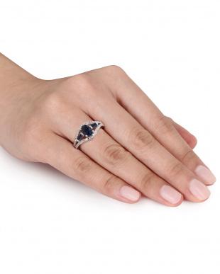 ブルーサファイア+ダイヤモンド  リング見る
