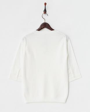 white  シャツ袖切り替えトップス見る