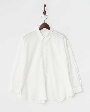 white  リネン混 2WAYシャツ見る