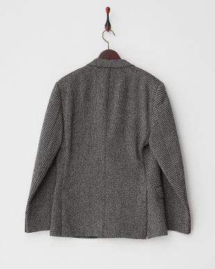 グレー ジャガード調織り柄 ダブルブレストジャケット見る